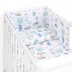 Dreamy 3 részes babaágynemű - Steppelt szürke és kék