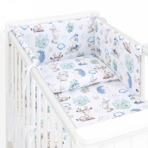 Dreamy babaágynemű garnitúra 3 részes szett - Steppelt kék