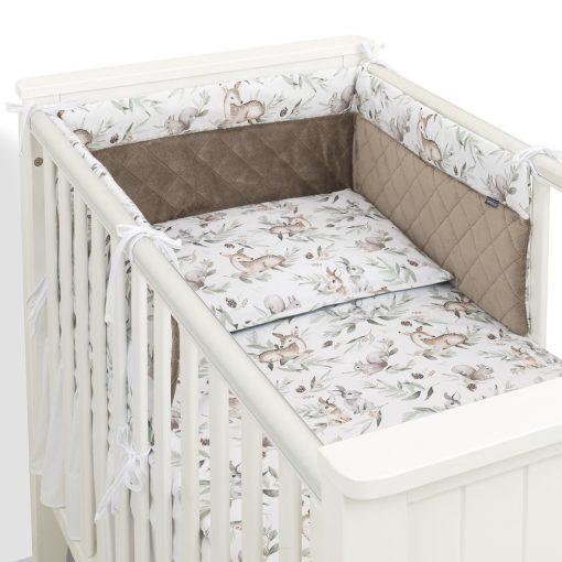 Dreamy babaágynemű garnitúra 3 részes szett - Mini szürke csillagok rózsaszín minkyvel