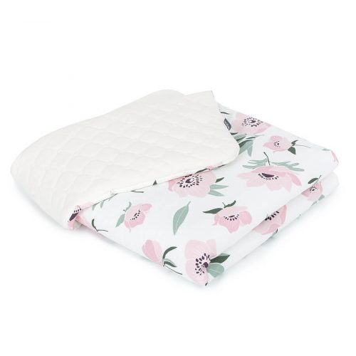 Dreamy babatakaró - Virágok ekrü bézs velvettel
