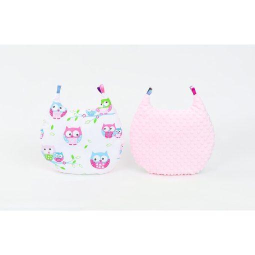 Dreamy cica formapárna - Bagoly pink-rózsaszín minkyvel