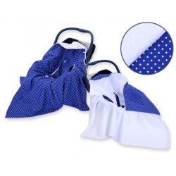 Babaülés-és babakocsi takaró - Mini pöttyös kék