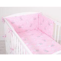 Harmony 3 részes babaágynemű - Nyuszik rózsaszín