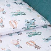 Dreamy 3 részes babaágynemű - Csillag szürke  barack velvettel