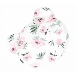 Maci párna - Virágok ekrü