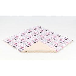 Játszószőnyeg - Pink tollak bézzsel