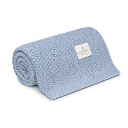 Best merinói gyapjú kötött takaró - Kék