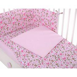 Harmony 3 részes 90x120cm babaágynemű szett - Rózsaszín pillangók