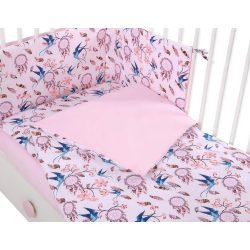 Harmony 3 részes 90x120cm babaágynemű szett - Álomfogó rózsaszín