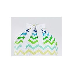 Dreamy babaszoba mennyezeti lámpa - Cikk cakk zöld