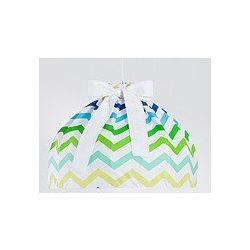 Babaszoba mennyezeti lámpa - Cikk cakk zöld
