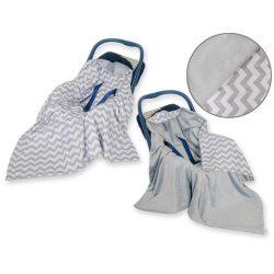 Harmony babaülés-és babakocsi takaró - Cikk cakk szürke