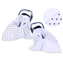 Harmony babaülés-és babakocsi takaró - Fekete csillagok