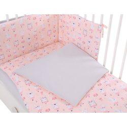 Harmony 3 részes babaágynemű - Balerina nyuszik rózsaszín