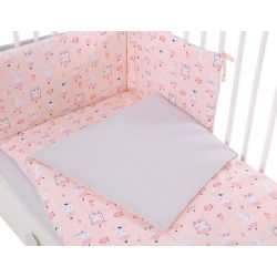 Harmony 3 részes 90x120cm babaágynemű szett - Balerina nyuszik rózsaszín
