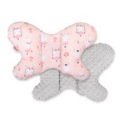 Pillangó párna - Balerina nyuszik rózsaszín szürkével