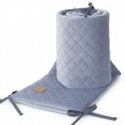 Dreamy rácsvédő - Szürke színű steppelt bársonyos velvet