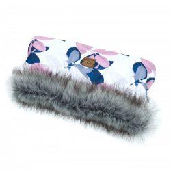 Dreamy babakocsi kesztyű - Pasztell virágok
