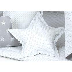 Dreamy formapárna csillag alakú - Csillag szürke