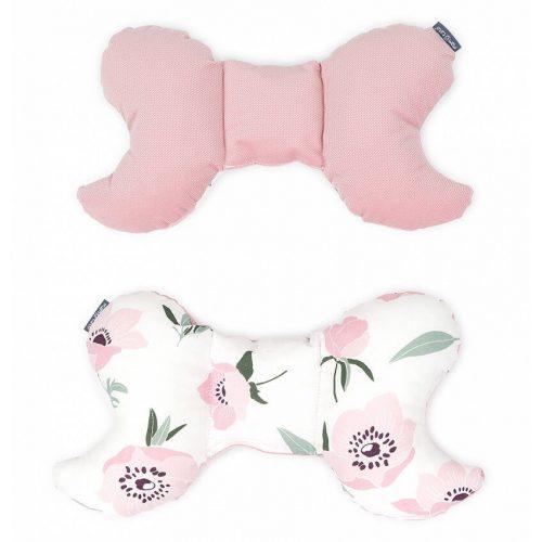 Dreamy pillangó párna - Virágok ekrü rózsaszín velvettel