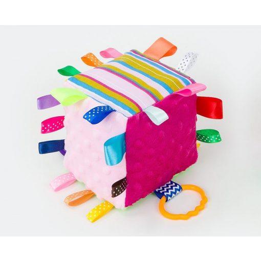 Dreamy kocka címkejáték - pink és rózsaszín minkyvel