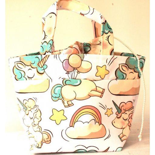 Kézműves uzsis táska - Unikornis