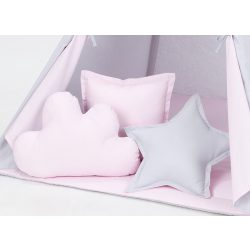 Rózsaszín-szürke formapárnák