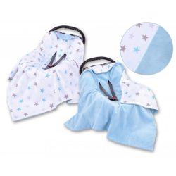 Babaülés-és babakocsi takaró - Kék csillagok