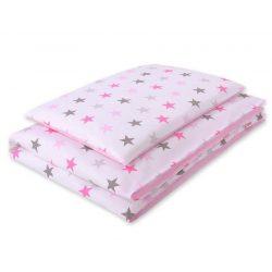 Harmony babaágynemű 2 részes huzat - Rózsaszín csillagok