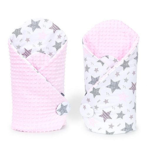 Minky pólya - Csillagmix rózsaszín minkyvel