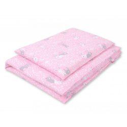 Harmony babaágynemű 2 részes huzat - Nyuszik rózsaszín