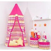 Dreamy baldachin sátor - Cikk cakk pink