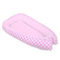Harmony babafészek - Pöttyös rózsaszín
