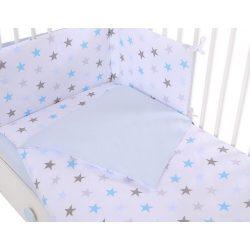 Harmony 3 részes 90x120cm babaágynemű szett - Kék csillagok