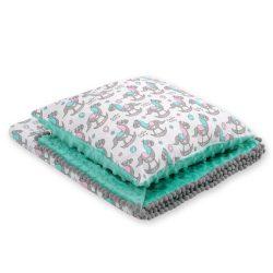 Minky takaró és párna szett  - Hintalovak