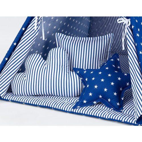 Dreamy formapárna szett - Kék csíkok és csillagok