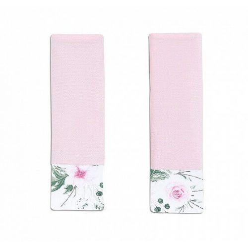 Dreamy babakocsi öv védőpánt - Rózsakert rózsaszín velvettel