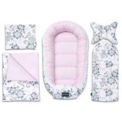 Pure babafészek szett - Magnóliák rózsaszínnel