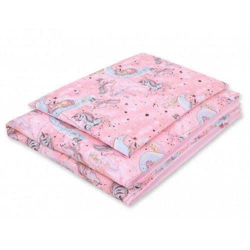 Harmony babaágynemű 2 részes huzat - Unikornis rózsaszín