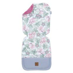 Velvet erdei állatok rózsaszín-szürke babakocsi betét