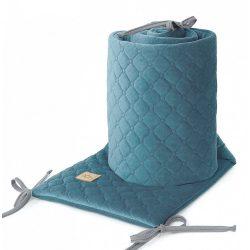 Rácsvédő - Világos szürke színű steppelt bársonyos velvet