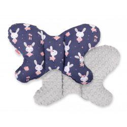 Harmony pillangó párna - Balerina nyuszik sötétkék