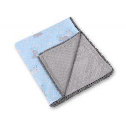 Minky takaró - Nyuszik kék