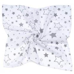 Dreamy muszlin babatakaró 120x120cm - Csillagfény szürke