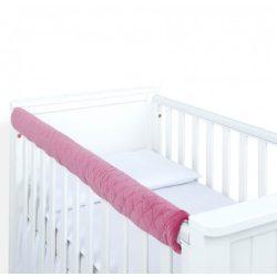 Dreamy fog védő huzat babaágyra - Piszkos rózsaszín steppelt velvet