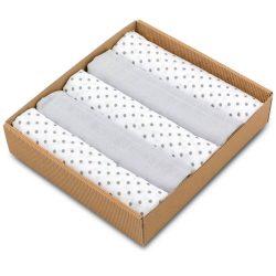 Pure 5 darabos muszlin pelenka csomag szürke pöttyös