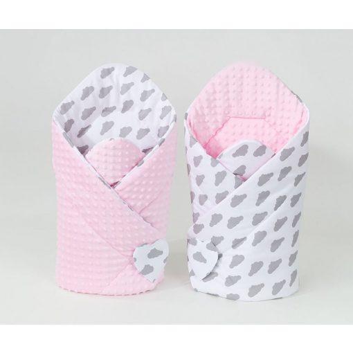 Dreamy minky pólya - Felhők rózsaszín minkyvel