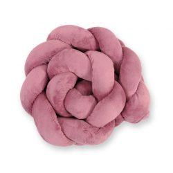 Harmony fonott rácsvédő - Pasztell pink minky