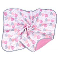 Dreamy muszlin babatakaró - Rózsaszín elefántok
