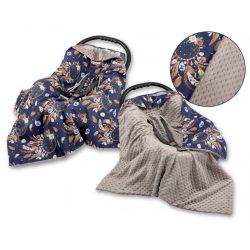 Babaülés-és babakocsi takaró - Álomfogó kék